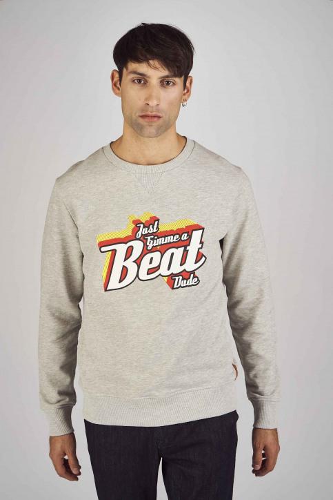 Le Fabuleux Marcel De Bruxelles Sweaters met ronde hals grijs MDB192MT 013_GREY MELEE img1