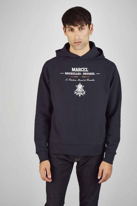 Le Fabuleux Marcel De Bruxelles Sweaters met kap blauw MDB192MT 014_NAVY img1