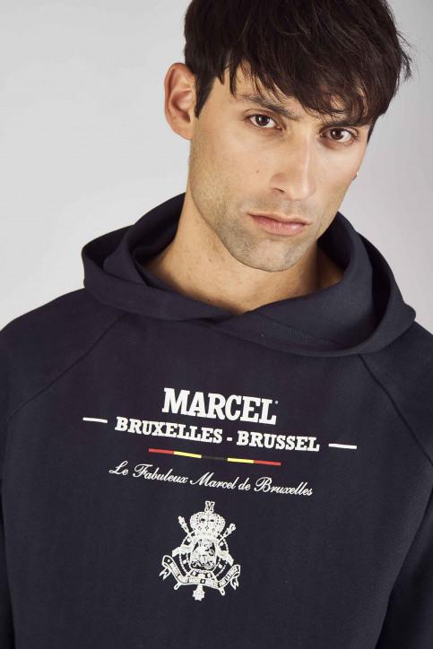 Le Fabuleux Marcel De Bruxelles Sweaters met kap blauw MDB192MT 014_NAVY img4