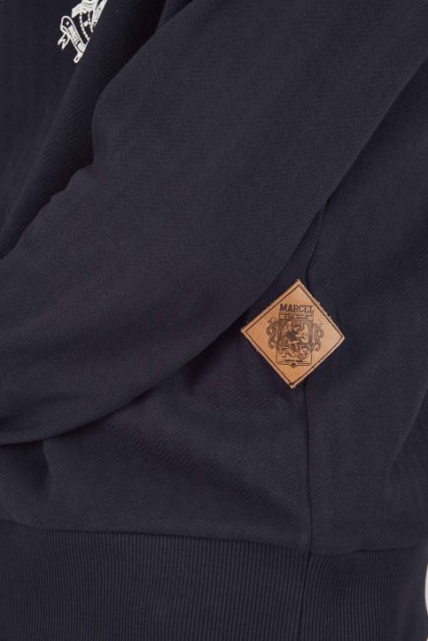 Le Fabuleux Marcel De Bruxelles Sweaters met kap blauw MDB192MT 014_NAVY img5