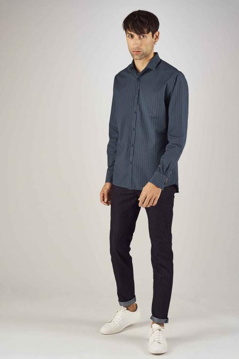Le Fabuleux Marcel De Bruxelles Hemden (lange mouwen) blauw MDB192MT 020_NAVY img2