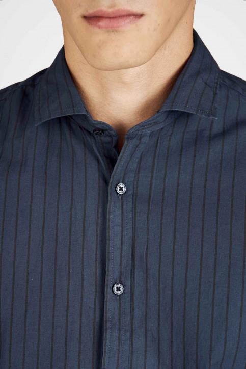 Le Fabuleux Marcel De Bruxelles Hemden (lange mouwen) blauw MDB192MT 020_NAVY img7