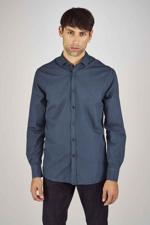 Le Fabuleux Marcel De Bruxelles Hemden (lange mouwen) blauw MDB192MT 022_NAVY img1