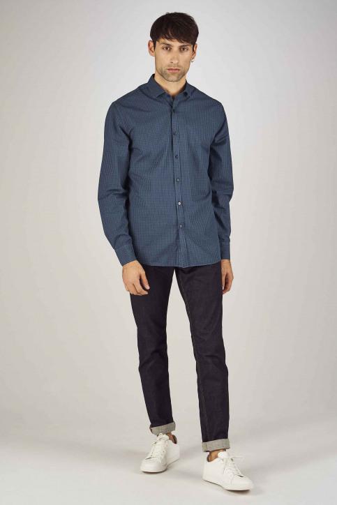 Le Fabuleux Marcel De Bruxelles Hemden (lange mouwen) blauw MDB192MT 022_NAVY img2