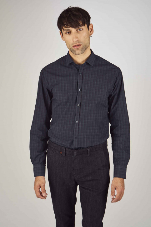 Le Fabuleux Marcel De Bruxelles Hemden (lange mouwen) blauw MDB192MT 023_NAVY img1