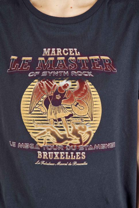 Le Fabuleux Marcel De Bruxelles T-shirts (korte mouwen) blauw MDB192WT 001_NAVY img4