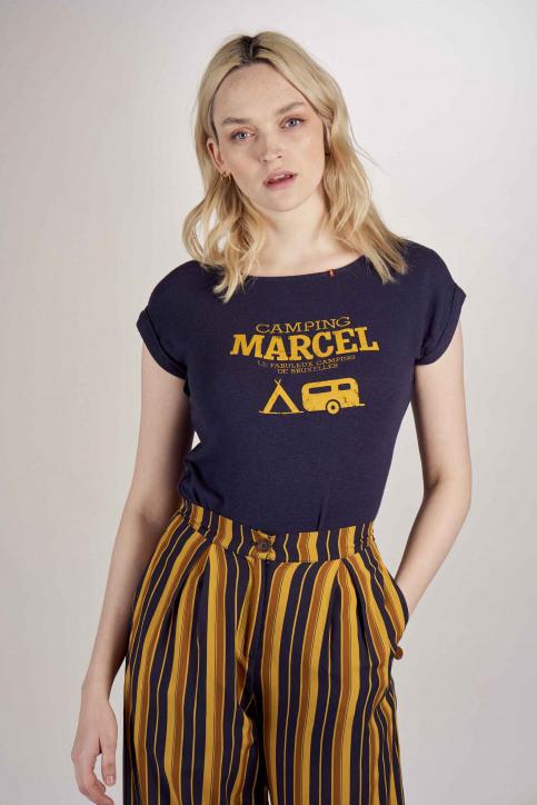 Le Fabuleux Marcel De Bruxelles T-shirts (korte mouwen) blauw MDB201WT 004_NAVY img1