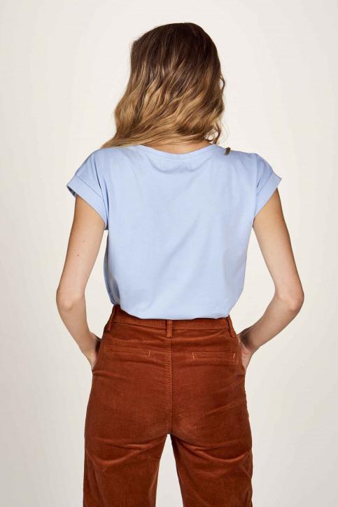 Le Fabuleux Marcel De Bruxelles T-shirts (korte mouwen) blauw MDB204WT 001_CHAMBRAY BLUE img3