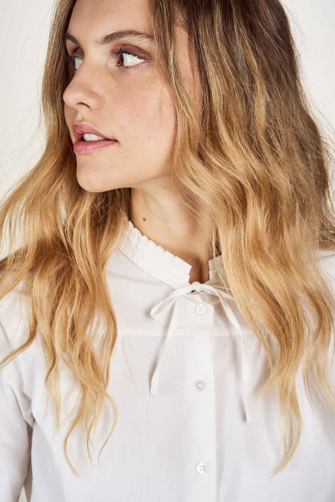 Hemden (lange mouwen) wit MDB204WT 005_GARDENIA img1