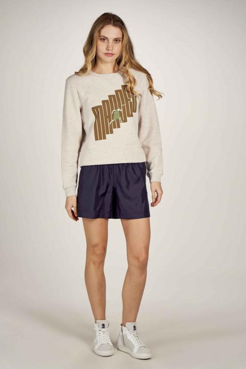Le Fabuleux Marcel De Bruxelles Sweaters met ronde hals ecru MDB211WT 014_GREIGE MELEE img1