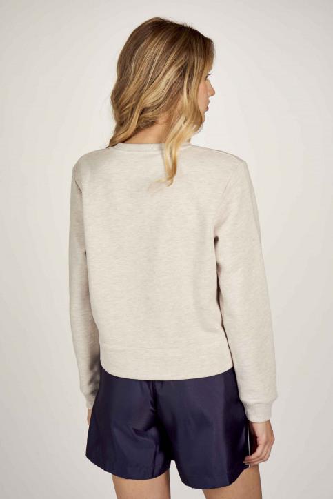 Le Fabuleux Marcel De Bruxelles Sweaters met ronde hals ecru MDB211WT 014_GREIGE MELEE img5