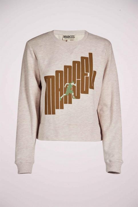 Le Fabuleux Marcel De Bruxelles Sweaters met ronde hals ecru MDB211WT 014_GREIGE MELEE img6