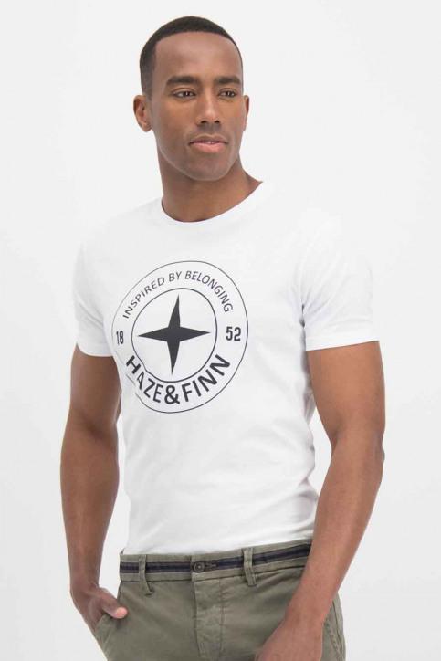 Haze & Finn T-shirts (korte mouwen) wit ME-0018_ArcticWhite - img1