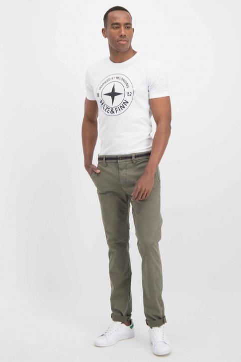 Haze & Finn T-shirts (korte mouwen) wit ME-0018_ArcticWhite - img2