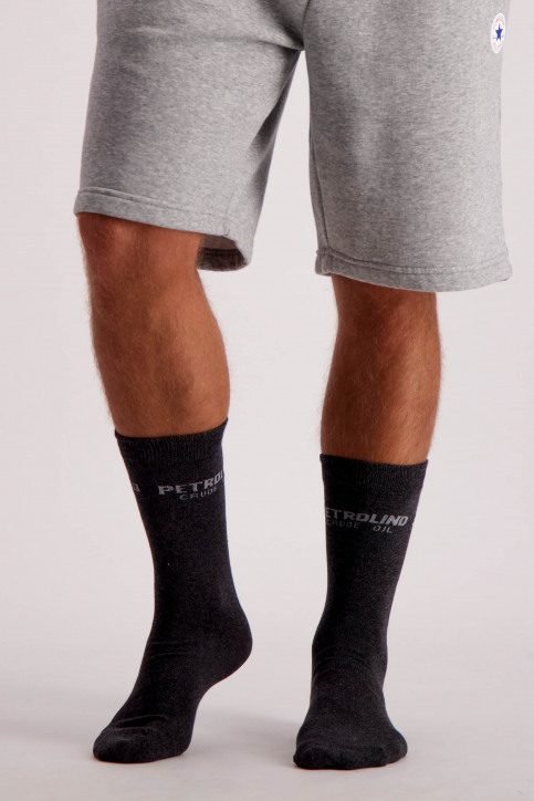 Petrol Chaussettes gris MFW18SOC911_9080 STEAL MELE img1