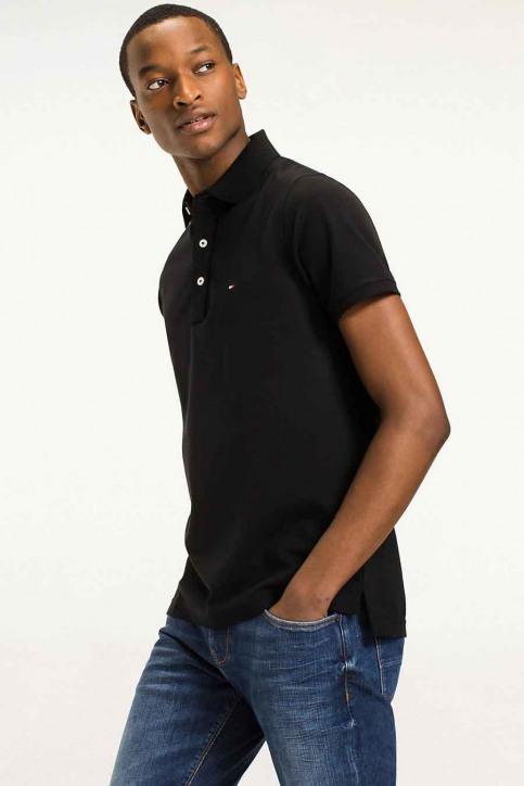 Tommy Jeans Polos noir MW0MW04975_032 Flag Black img1