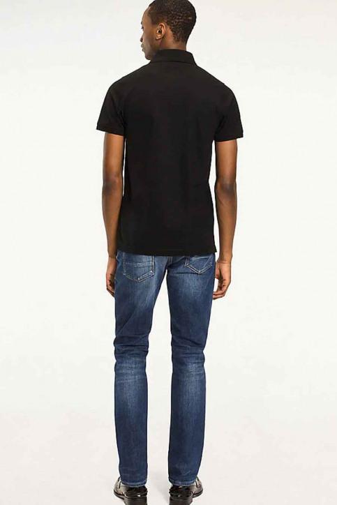 Tommy Jeans Polos noir MW0MW04975_032 Flag Black img2