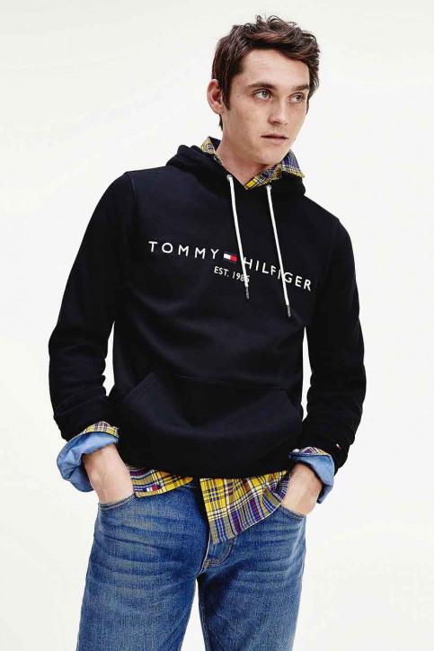 Tommy Jeans Sweats avec capuchon noir MW0MW10752_403 SKY CAPTAIN img1