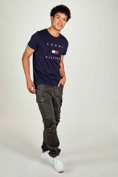 Tommy Jeans T-shirts (manches courtes) bleu MW0MW14313_DW5 DESERT SKY img1