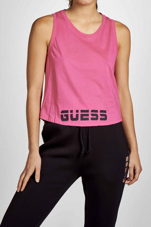 GUESS Tops uni manche courte rose O02A20JA900_G6D0 img1