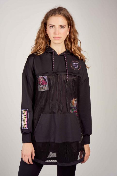 Guess® Sweaters met kap zwart O0BA54KA3A0_JBLK JET BLACK img1