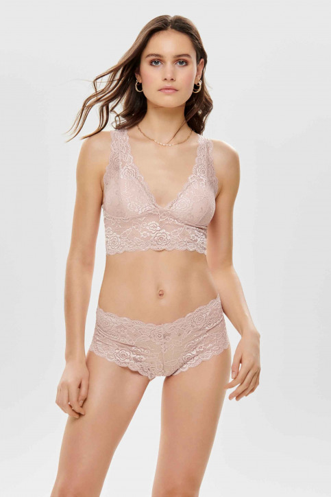 ONLY Soutien-gorge rose ONLCHLOE LACE BRA_ROSE SMOKE img1