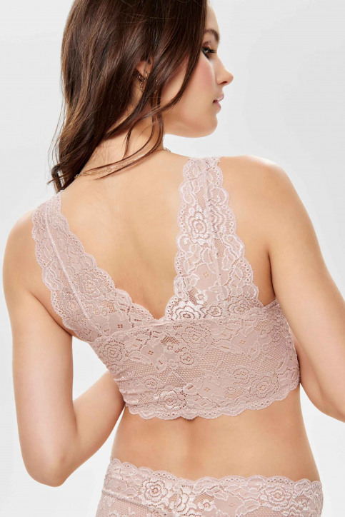 ONLY Soutien-gorge rose ONLCHLOE LACE BRA_ROSE SMOKE img5