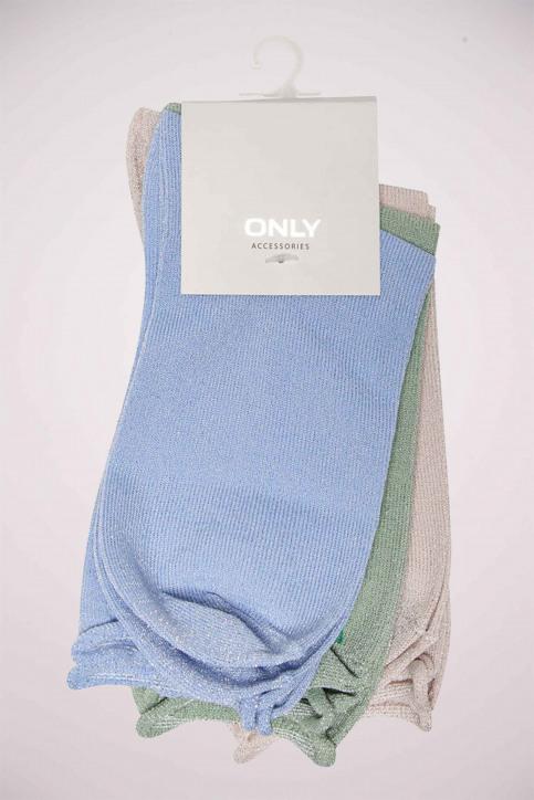 ONLY Sokken blauw ONLDARLA METALLIC SO_CASHMERE BLUE img5
