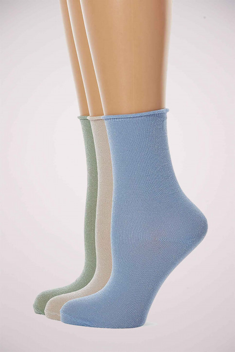 ONLY Sokken blauw ONLDARLA METALLIC SO_CASHMERE BLUE img6
