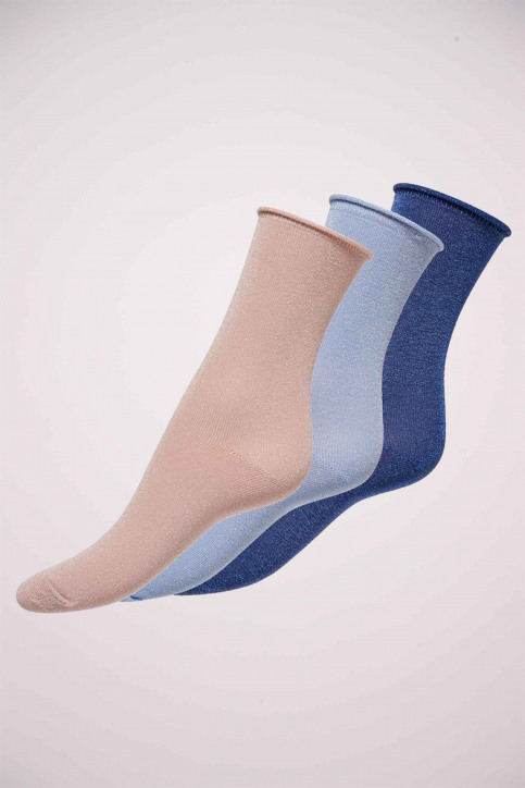 ONLY Chaussettes bleu ONLDARLA METALLIC SO_TRUE NAVY img1