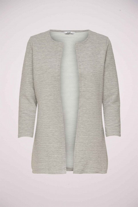 ONLY Gilets gris ONLLECO 78 LONG CARD_LIGHT GREY MEL img6