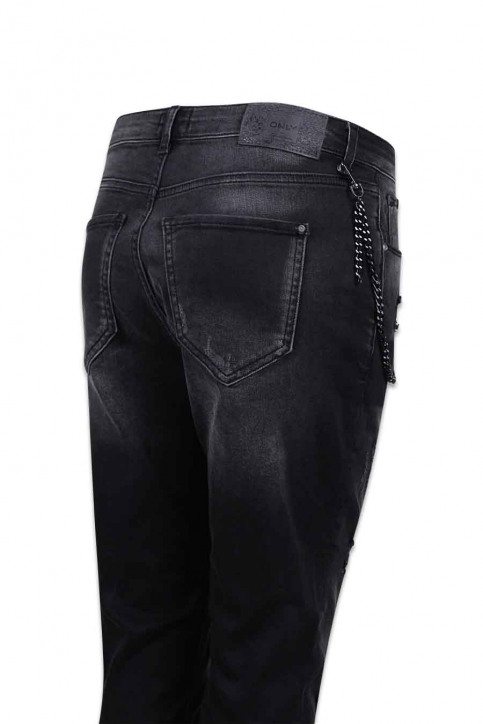 ONLY Jeans coupe spécial gris ONLLIBERTY ANTIFIT_REA17942BLACK img4