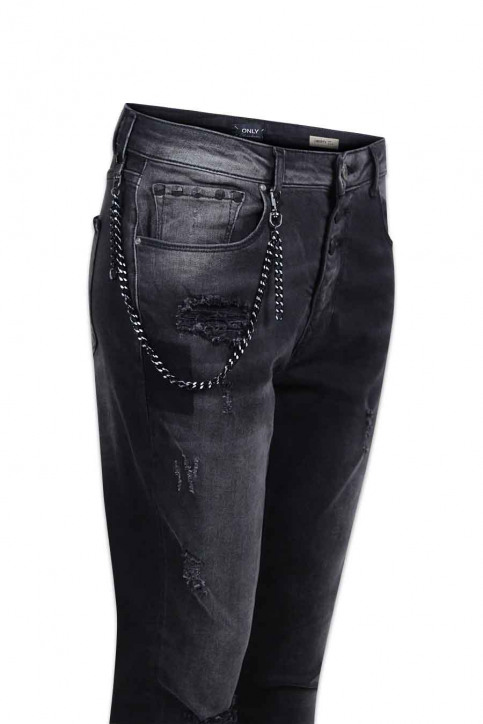 ONLY Jeans coupe spécial gris ONLLIBERTY ANTIFIT_REA17942BLACK img5