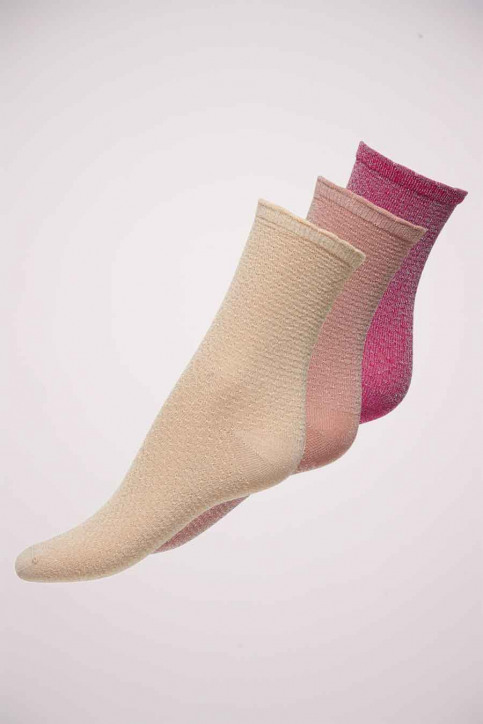 ONLY Chaussettes rose ONLRISKA GLITTER_BEGONIA PINK img1