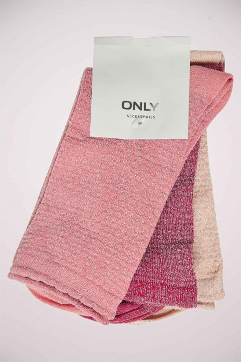 ONLY Chaussettes rose ONLRISKA GLITTER_BEGONIA PINK img2