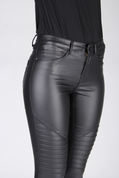 ONLY Jeans skinny noir ONLROYAL REG SK BIKE_BLACK img4
