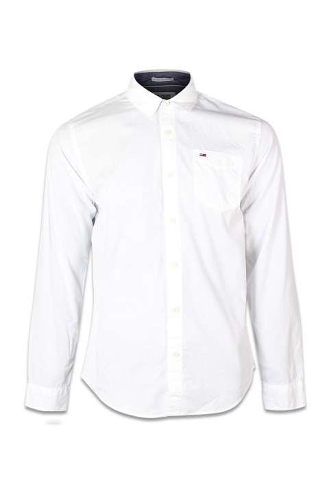 Tommy Jeans Chemises (manches longues) blanc ORIGINAL END ON END_100CLASSIC WHI img1