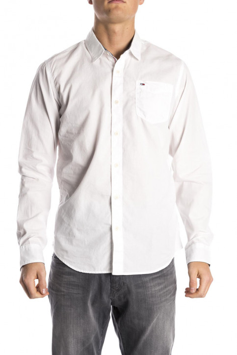 Tommy Jeans Chemises (manches longues) blanc ORIGINAL END ON END_100CLASSIC WHI img2