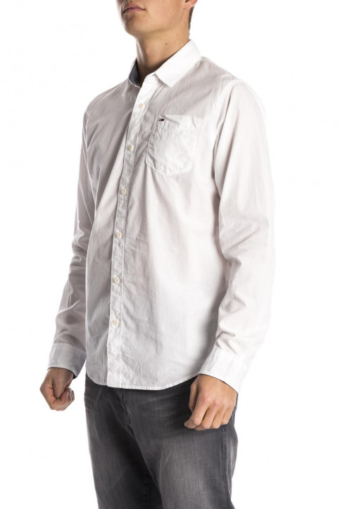 Tommy Jeans Chemises (manches longues) blanc ORIGINAL END ON END_100CLASSIC WHI img4