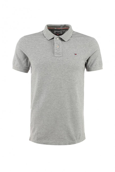 Tommy Jeans Polos gris ORIGINAL FLAG POLO_038LIGHT GREY img1