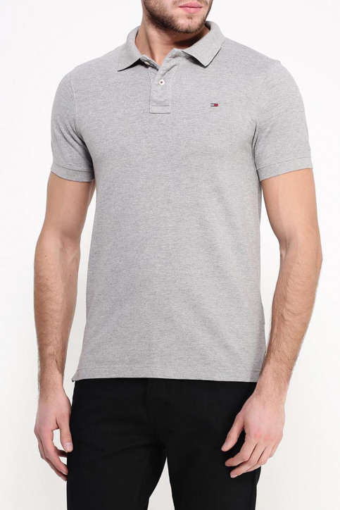 Tommy Jeans Polos gris ORIGINAL FLAG POLO_038LIGHT GREY img4