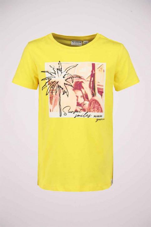 GARCIA Girls tops t-shirt uni korte mouw jaune P04401_2690 FIRE YELLO img1