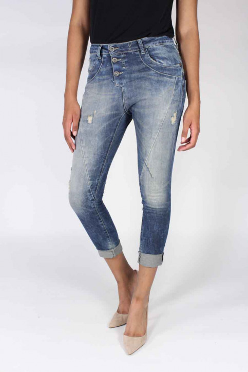 Please Jeans boyfriend P78ABQ2DC9_1670 BLU DENIM img1