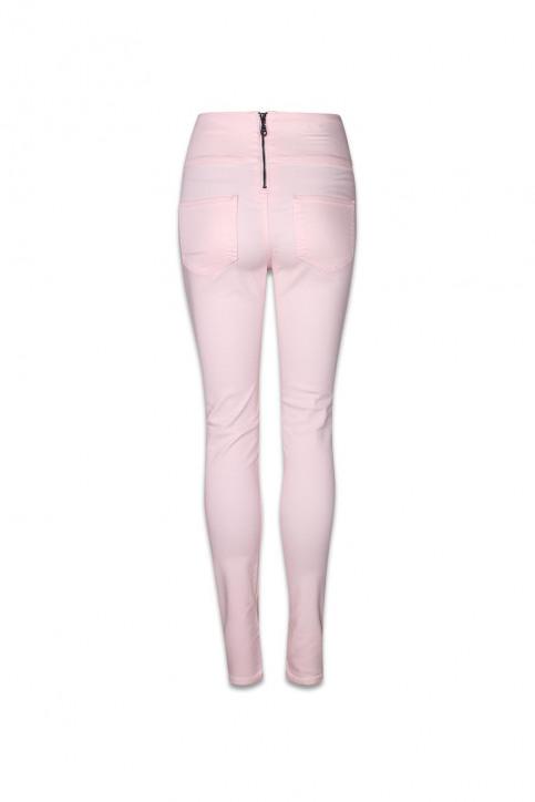 PIECES Pantalons colorés rose PCJUST JUTE HW LEGGI_PEARL img2
