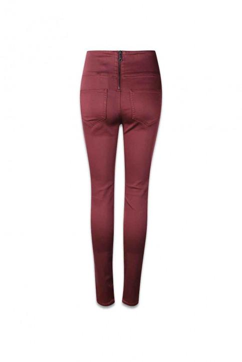 PIECES Pantalons PCJUST JUTE HW LEGG_DECADENT CHOCOL img2