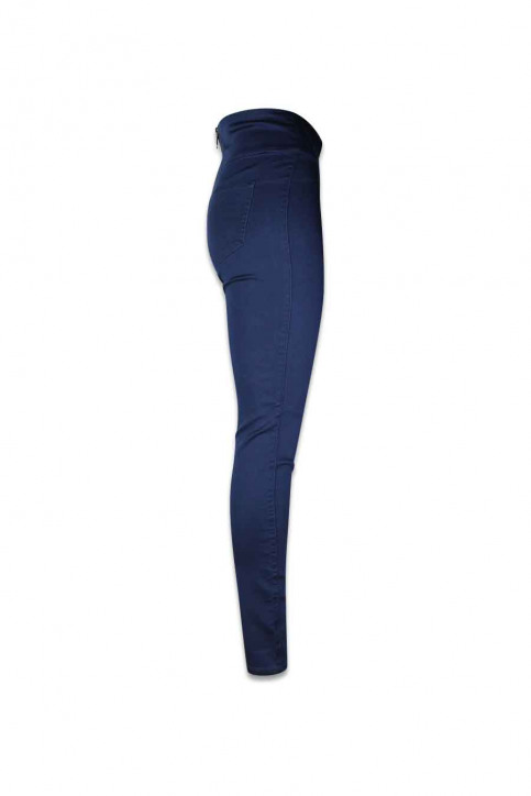 PIECES Pantalons bleu PCJUST JUTE HW LEGG_NAVY BLAZER img3