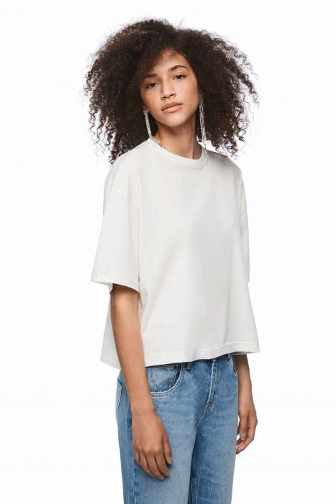 Pepe Jeans Tops uni manche courte blanc PL504331_800 WHITE img1