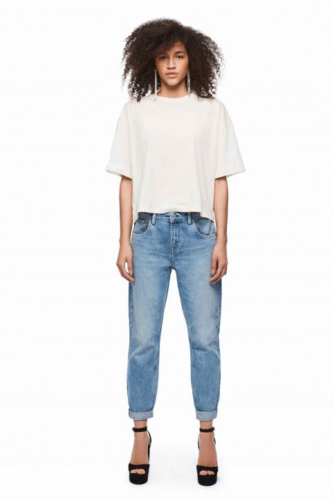 Pepe Jeans Tops uni manche courte blanc PL504331_800 WHITE img2