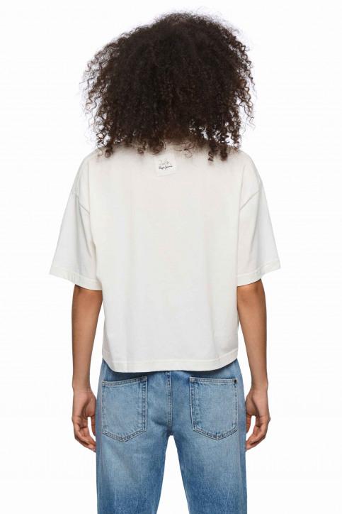 Pepe Jeans Tops uni manche courte blanc PL504331_800 WHITE img3