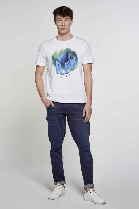 R.EV 1703 by Remco Evenepoel T-shirts (korte mouwen) wit REV211MT 006_WHITE img2